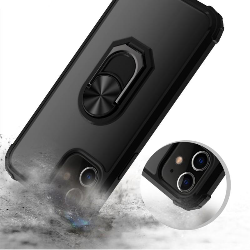 Mobiq Clear Hybrid Ring Hoesje iPhone 13 Blauw - 3