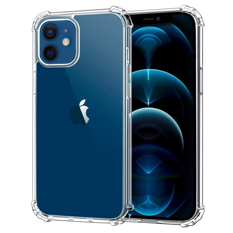 Mobiq Clear Rugged TPU Hoesje iPhone 12 Mini - 1