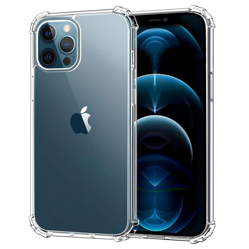 Mobiq Clear Rugged TPU Hoesje iPhone 12 Pro Max - 1