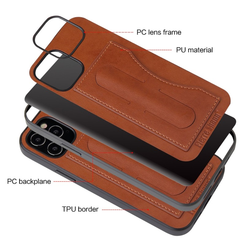 Mobiq Leather Click Stand Case iPhone 12 6.1 Bruin - 9