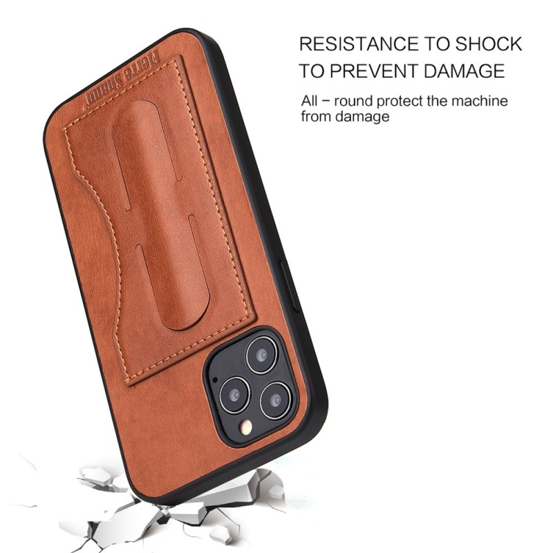 Mobiq Leather Click Stand Case iPhone 12 6.1 Bruin - 2