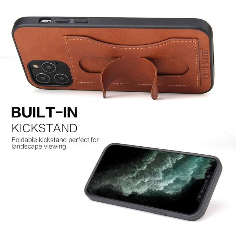 Mobiq Leather Click Stand Case iPhone 12 6.1 Bruin - 5