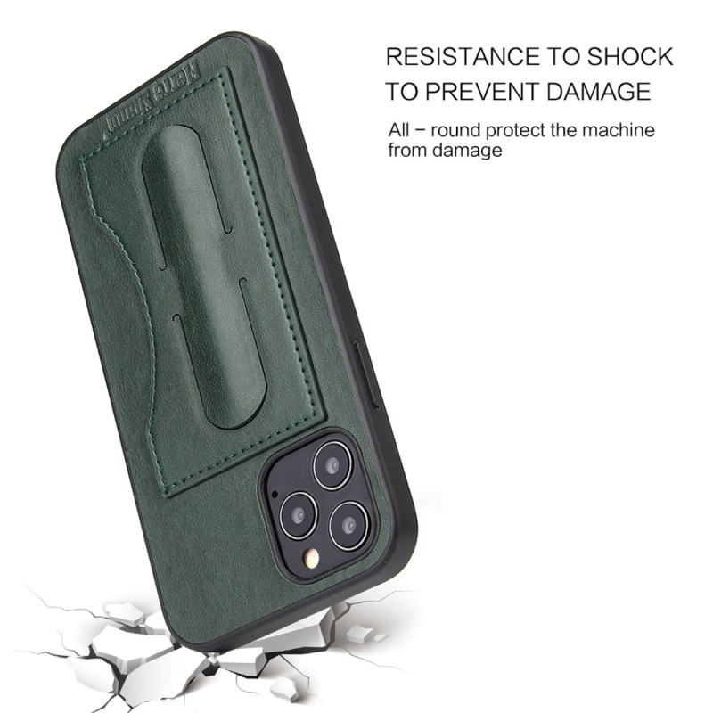 Mobiq Leather Click Stand Case iPhone 12 6.1 Groen - 3