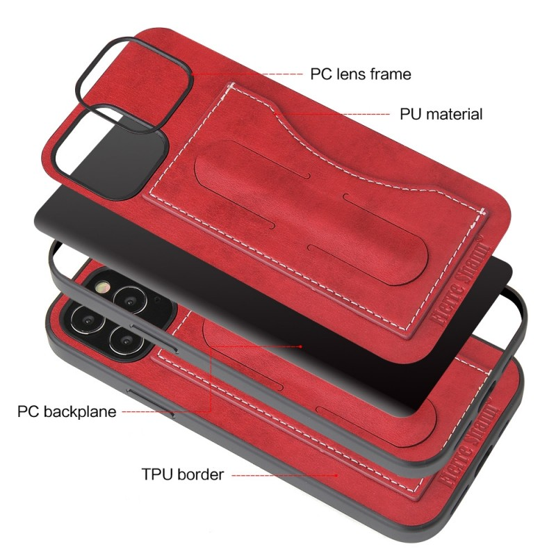 Mobiq Leather Click Stand Case iPhone 12 6.1 Rood - 4