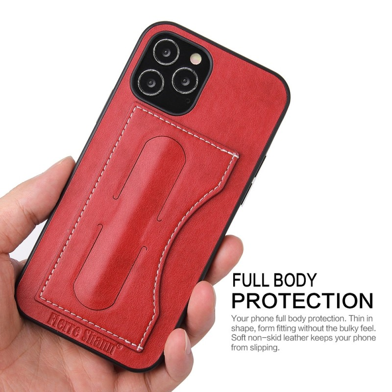 Mobiq Leather Click Stand Case iPhone 12 6.1 Rood - 9