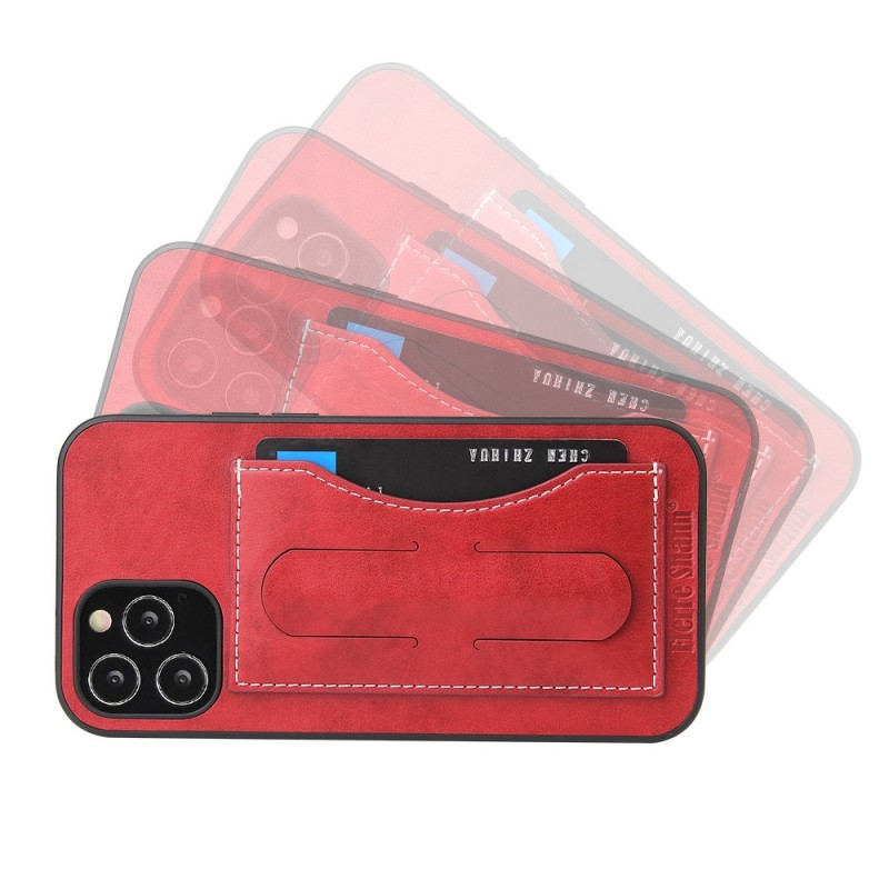 Mobiq Leather Click Stand Case iPhone 12 6.1 Rood - 6
