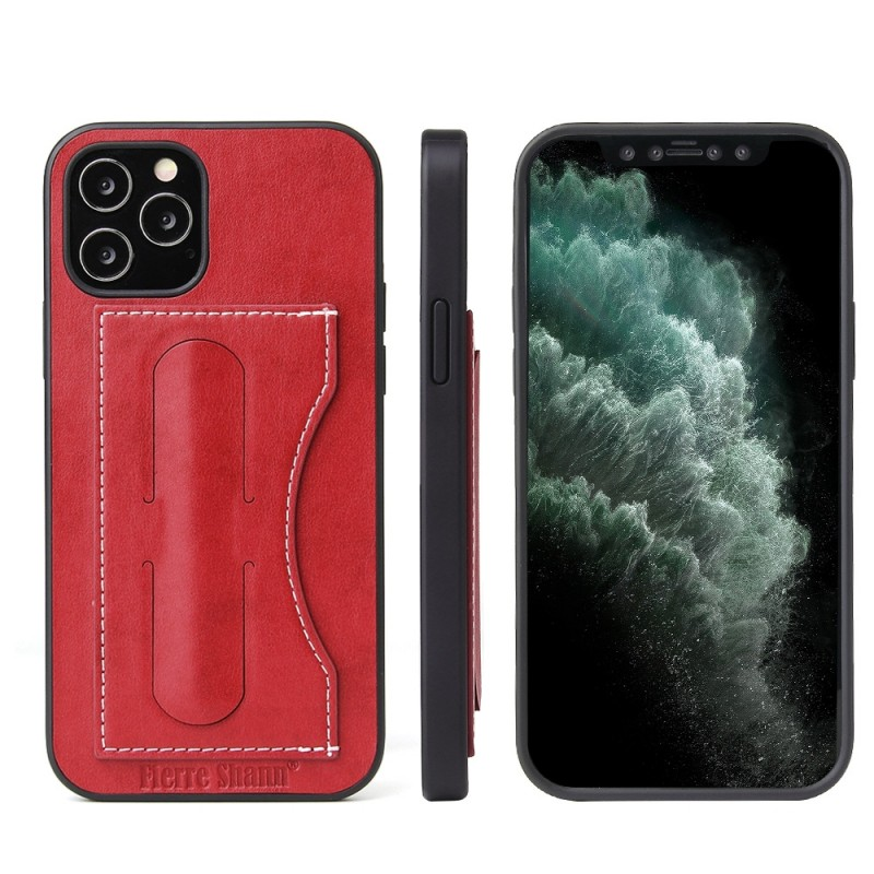 Mobiq Leather Click Stand Case iPhone 12 6.1 Rood - 8