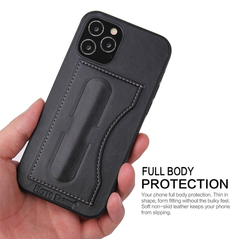 Mobiq Leather Click Stand Case iPhone 12 6.1 Zwart - 5