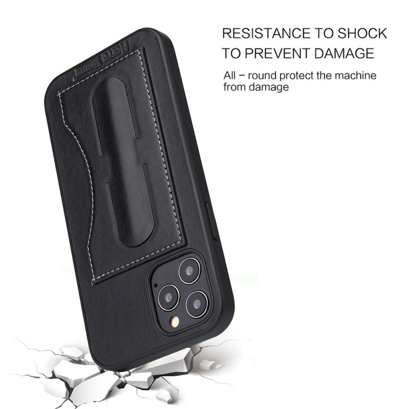 Mobiq Leather Click Stand Case iPhone 12 Mini Zwart - 4