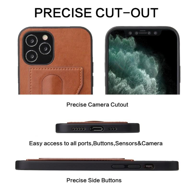 Mobiq Leather Click Stand Case iPhone 12 Pro Max Bruin - 7