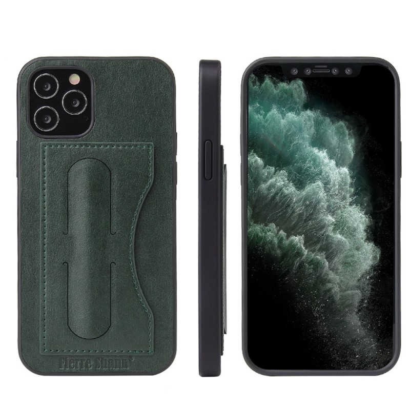 Mobiq Leather Click Stand Case iPhone 12 Pro Max Groen - 9
