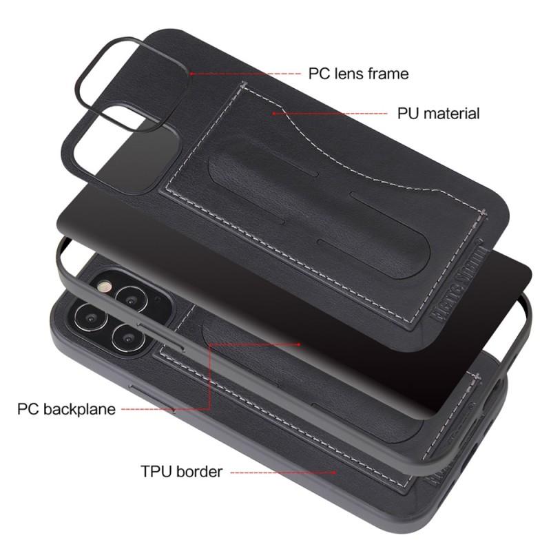Mobiq Leather Click Stand Case iPhone 12 Pro Max Zwart - 2
