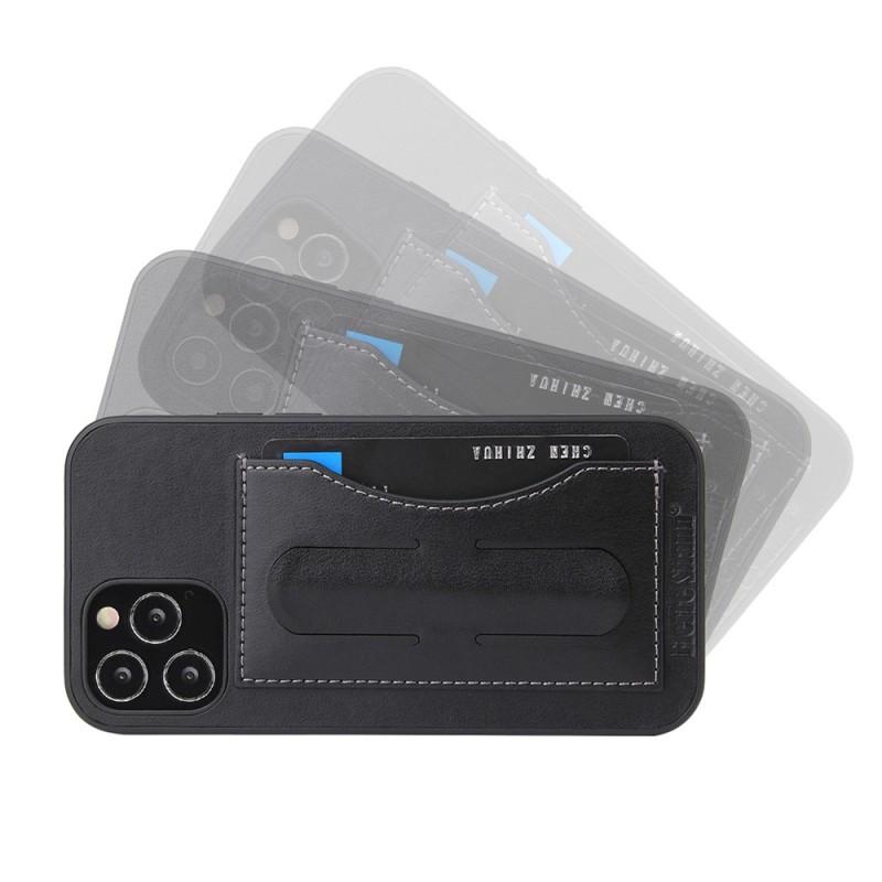 Mobiq Leather Click Stand Case iPhone 12 Pro Max Zwart - 6