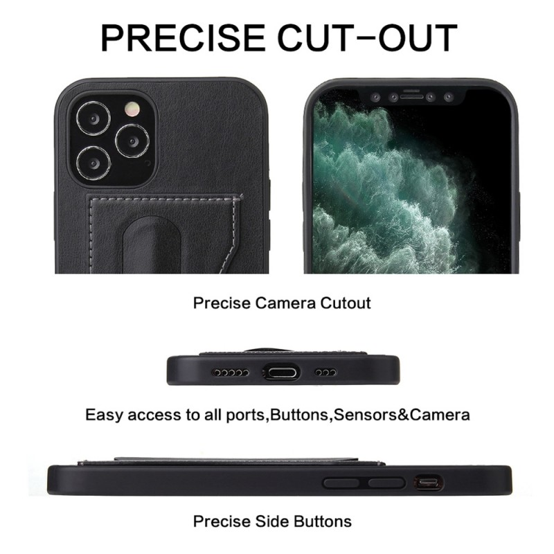 Mobiq Leather Click Stand Case iPhone 12 Pro Max Zwart - 8