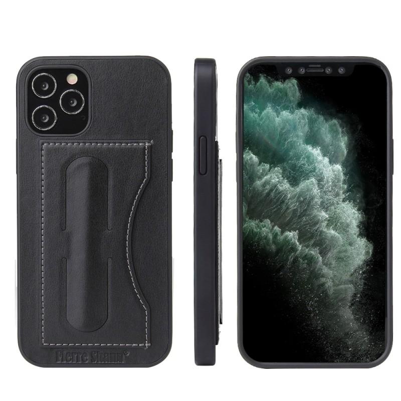 Mobiq Leather Click Stand Case iPhone 12 Pro Max Zwart - 9