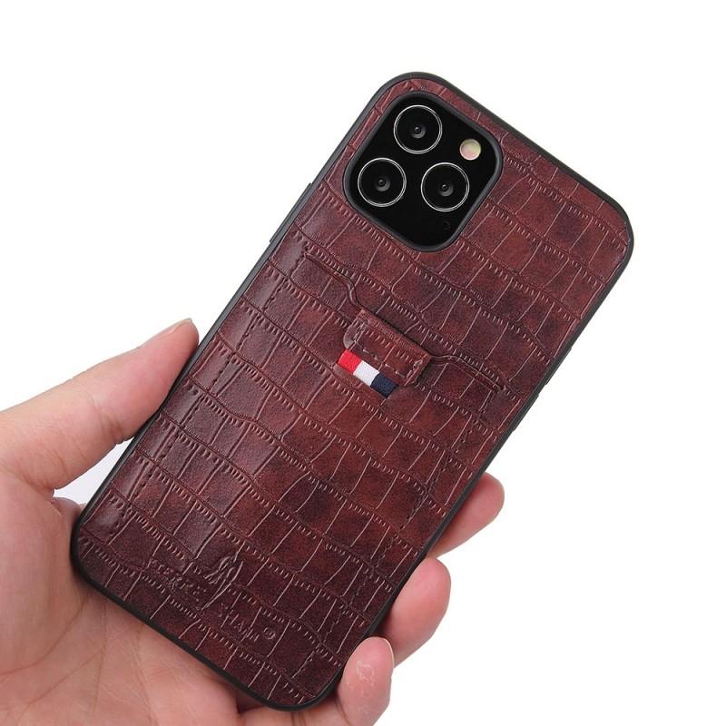 Mobiq Croco Wallet Back Cover iPhone 12 6.1 Bruin - 2