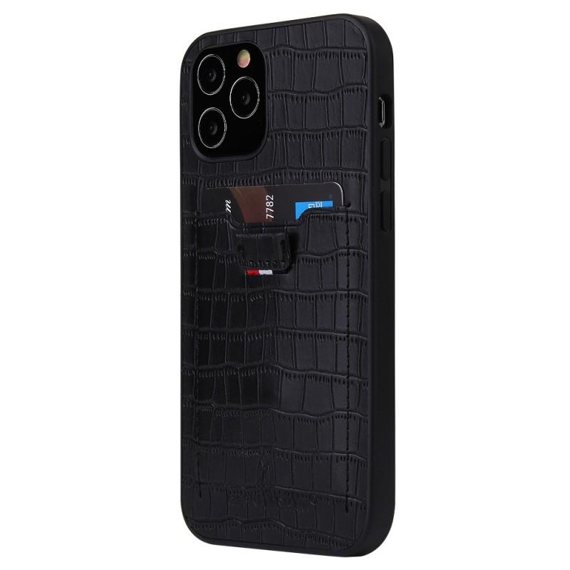 Mobiq Croco Wallet Back Cover iPhone 12 Mini Zwart - 1
