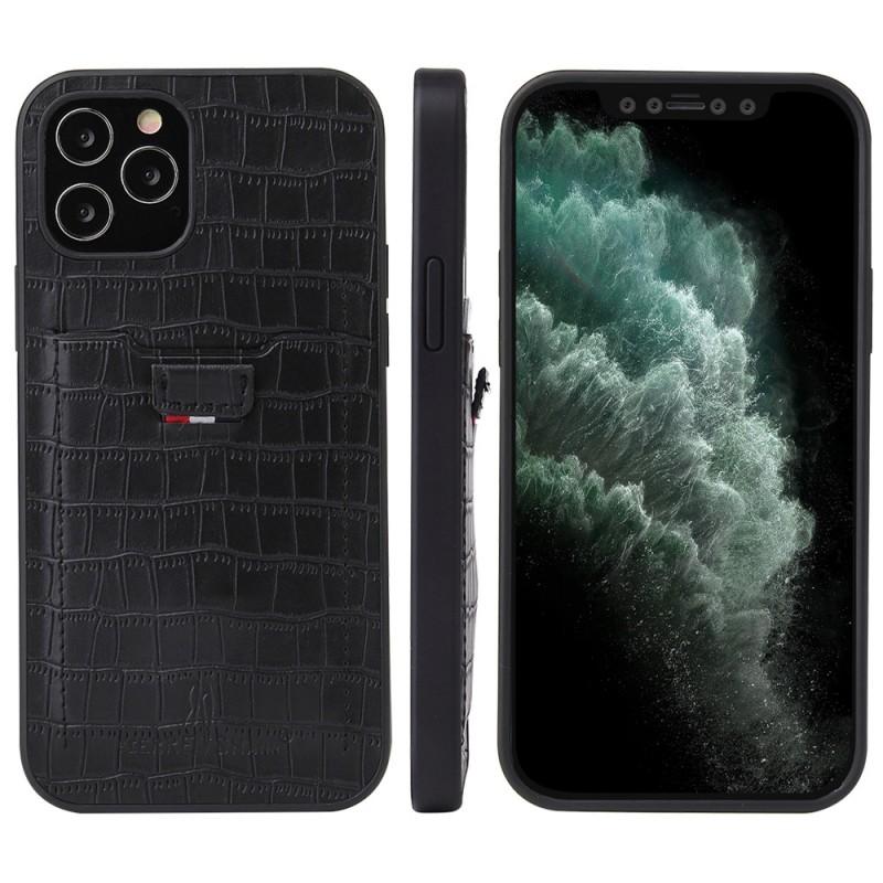 Mobiq Croco Wallet Back Cover iPhone 12 Mini Zwart - 4