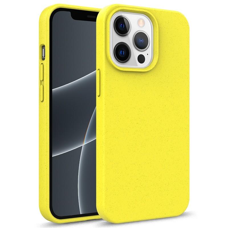 Mobiq Flexibel Eco Hoesje TPU iPhone 13 Mini Geel - 1