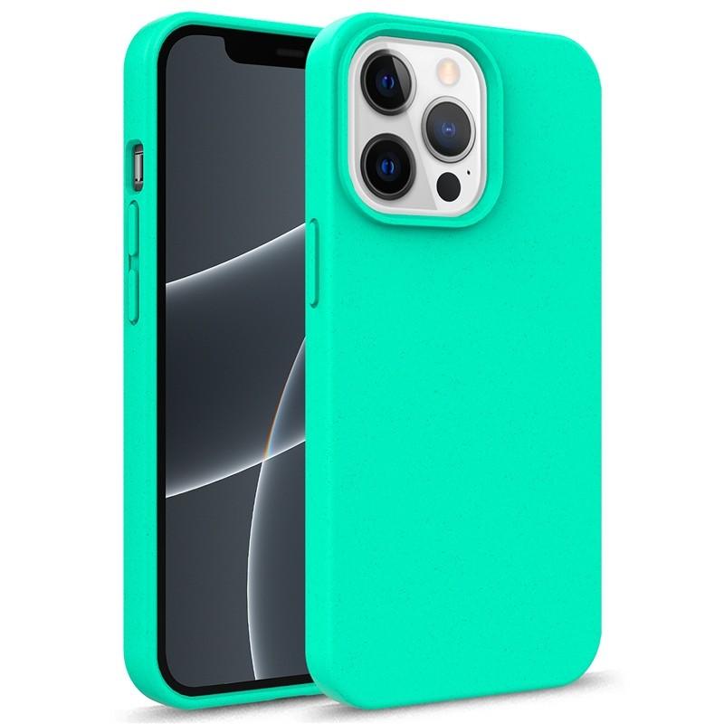 Mobiq Flexibel Eco Hoesje TPU iPhone 13 Mini Turqoise - 1
