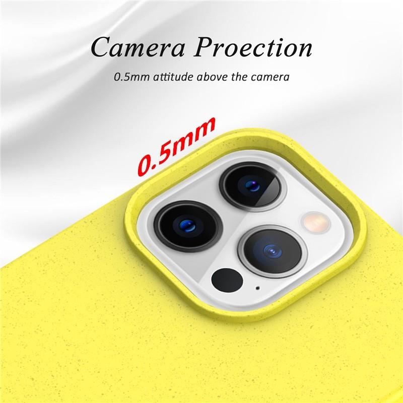 Mobiq Flexibel Eco Hoesje TPU iPhone 13 Mini Geel - 4