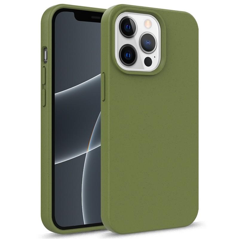 Mobiq Flexibel Eco Hoesje TPU iPhone 13 Pro Olijfgroen - 1
