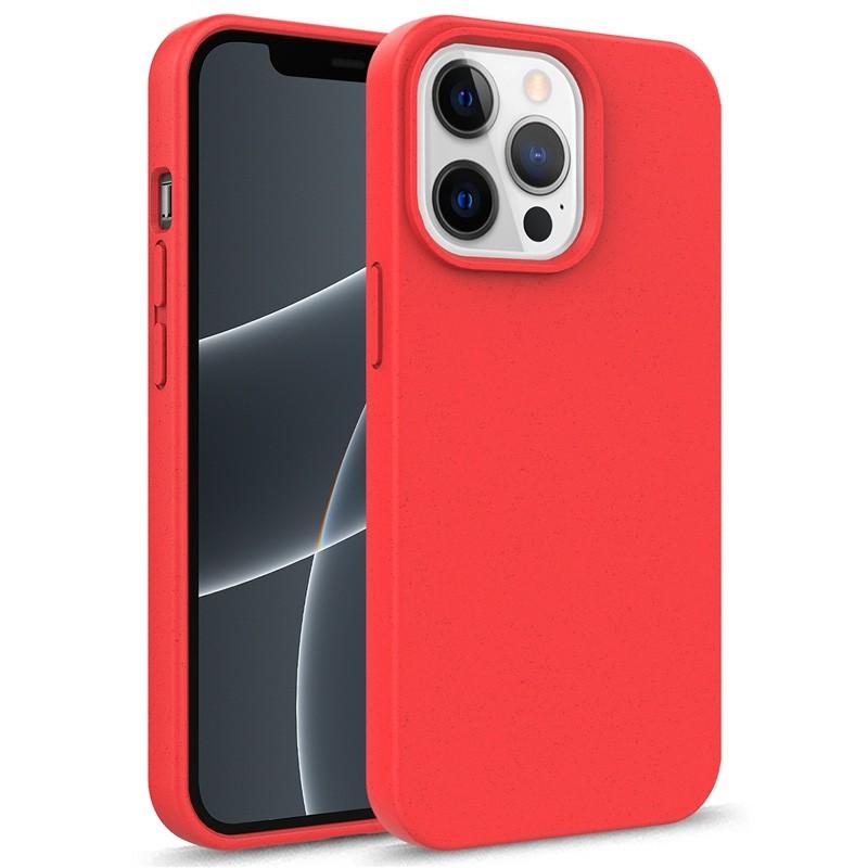 Mobiq Flexibel Eco Hoesje TPU iPhone 13 Pro Max Rood - 1