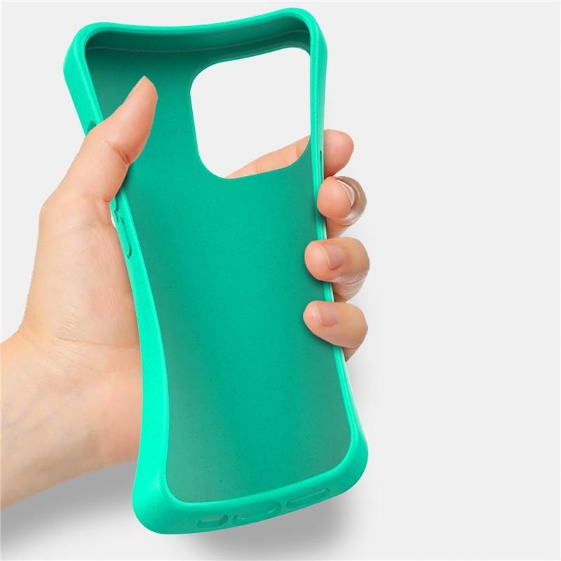 Mobiq Flexibel Eco Hoesje TPU iPhone 13 Olijfgroen - 2