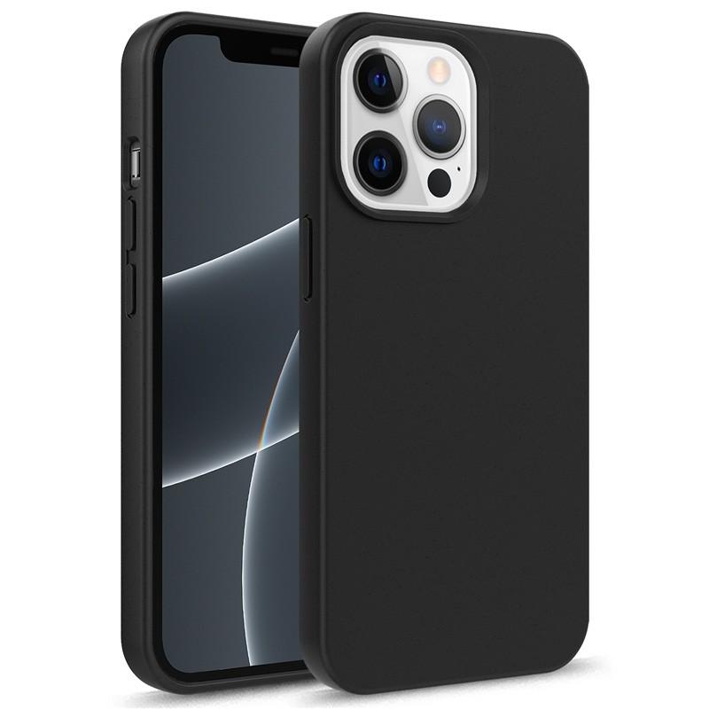 Mobiq Flexibel Eco Hoesje TPU iPhone 13 Zwart - 1