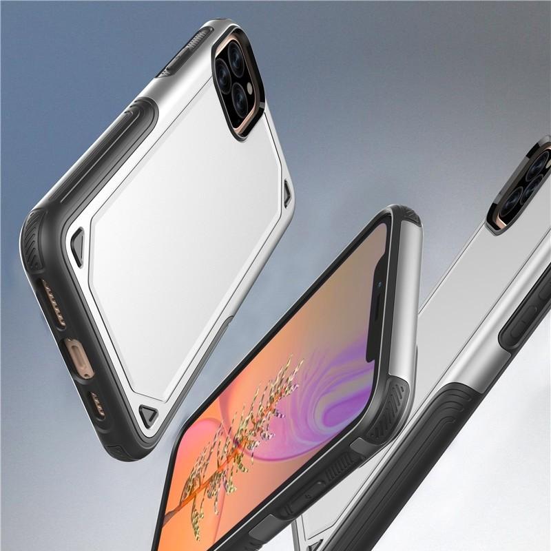 Mobiq extra beschermend armor hoesje iPhone 11 Pro zilver - 4