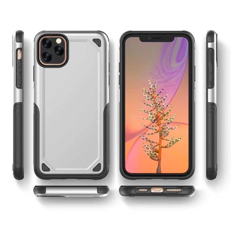 Mobiq extra beschermend armor hoesje iPhone 11 Pro grijs - 6