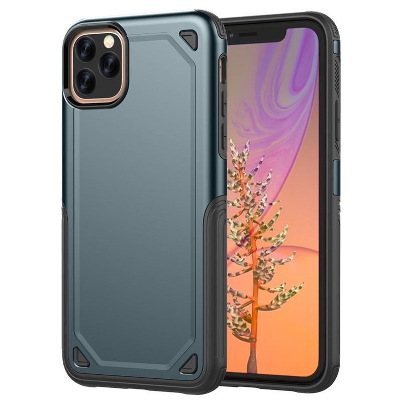 Mobiq extra beschermend armor hoesje iPhone 11 Pro blauw - 1