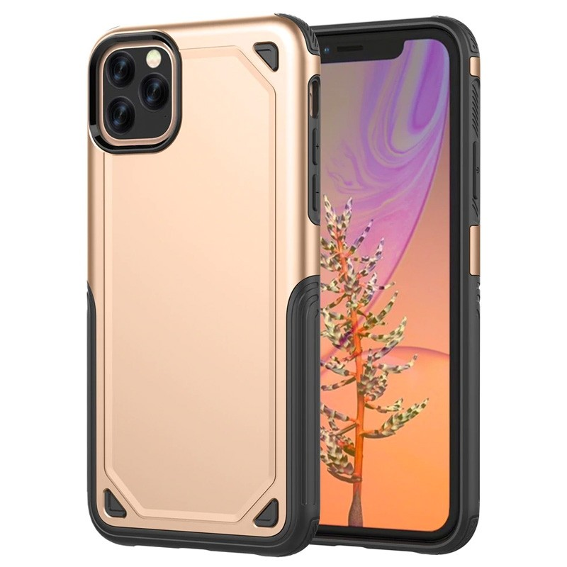 Mobiq extra beschermend armor hoesje iPhone 11 Pro goud - 1