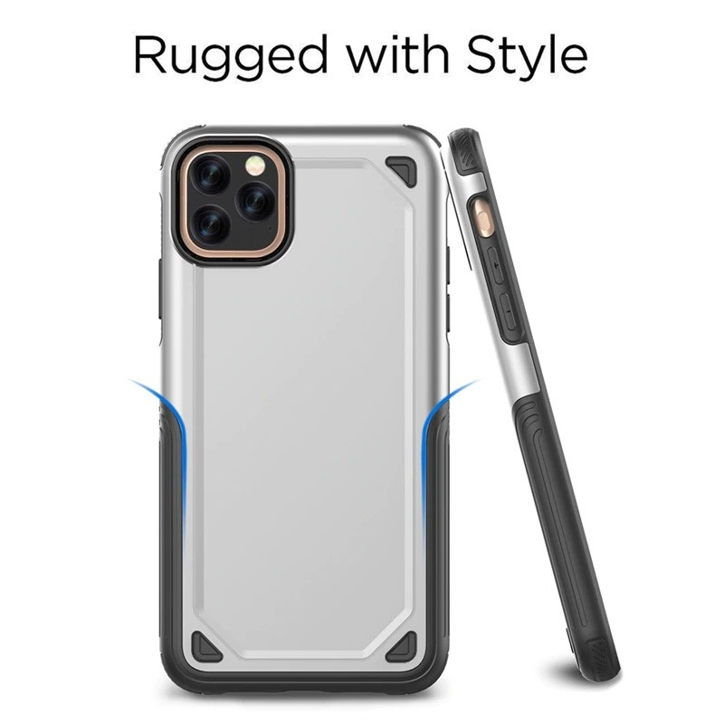 Mobiq extra beschermend armor hoesje iPhone 11 Pro Max grijs - 6