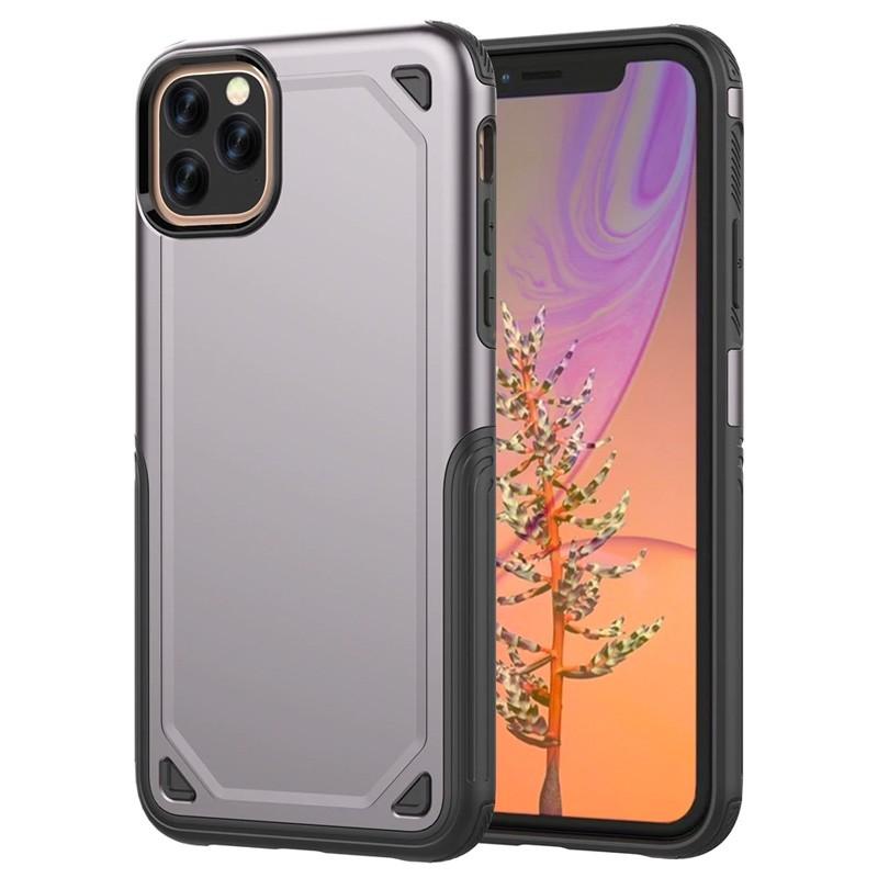 Mobiq extra beschermend armor hoesje iPhone 11 Pro Max grijs - 1