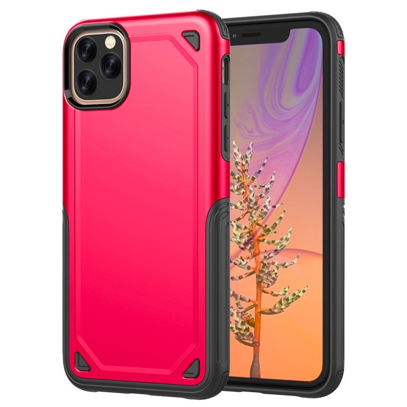 Mobiq extra beschermend armor hoesje iPhone 11 Pro Max rood - 1