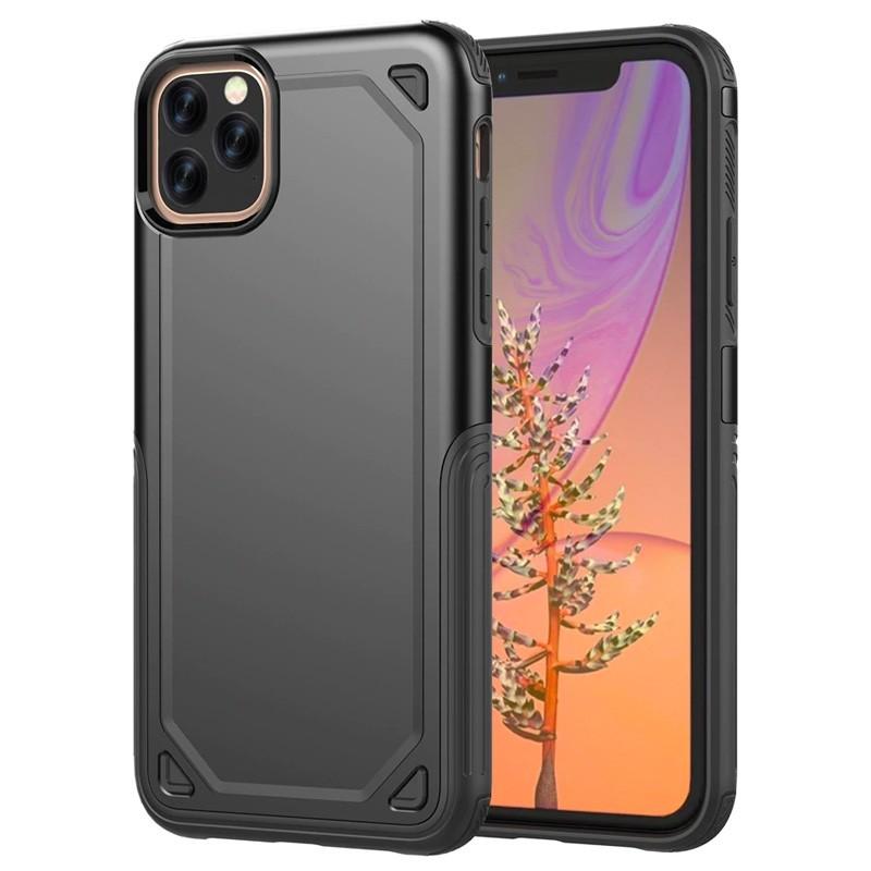 Mobiq extra beschermend armor hoesje iPhone 11 Pro Max zwart - 1