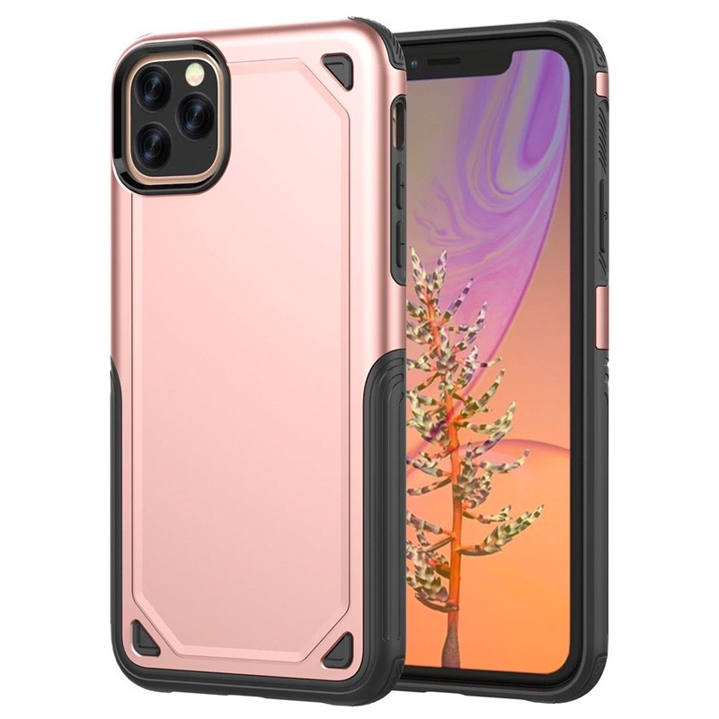 Mobiq extra beschermend armor hoesje iPhone 11 Pro roze - 1