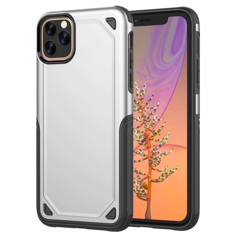 Mobiq extra beschermend armor hoesje iPhone 11 Pro zilver - 1