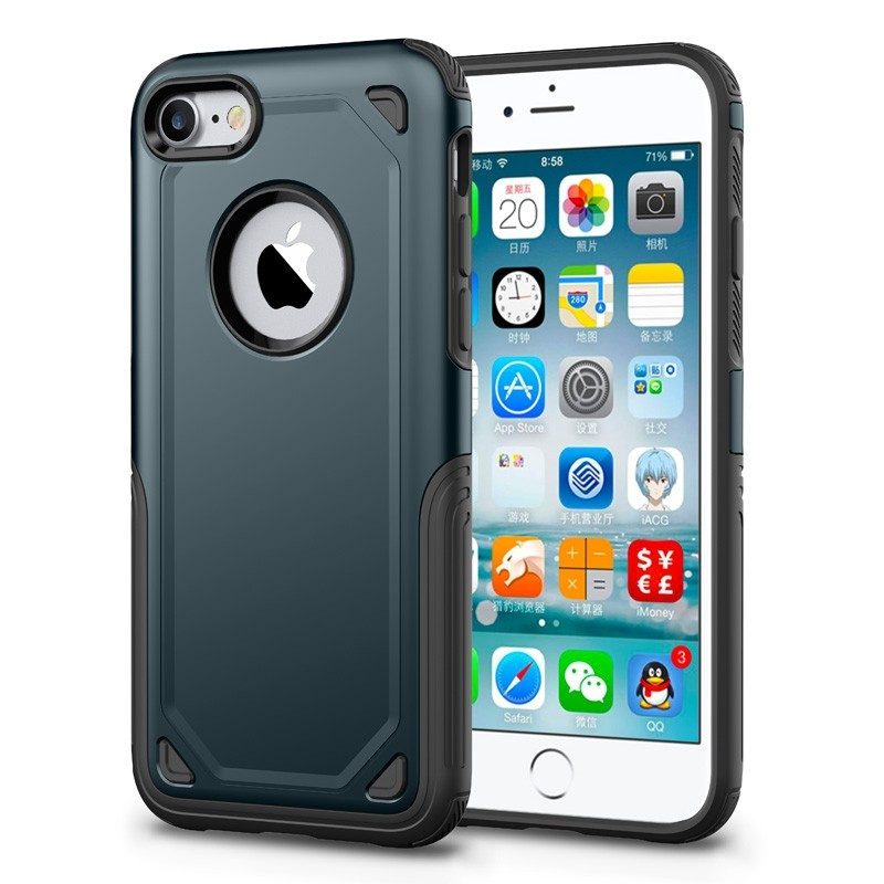 Mobiq Extra Stevig Hoesje iPhone SE (2020)/8/7 Blauw - 1
