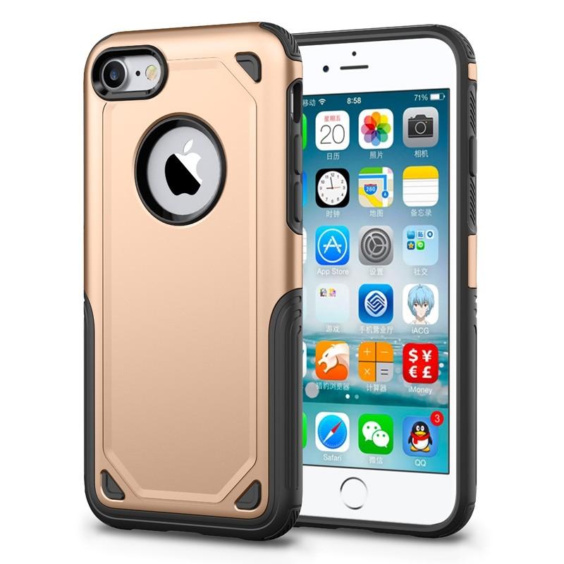 Mobiq Extra Stevig Hoesje iPhone 8/7 Goud - 1