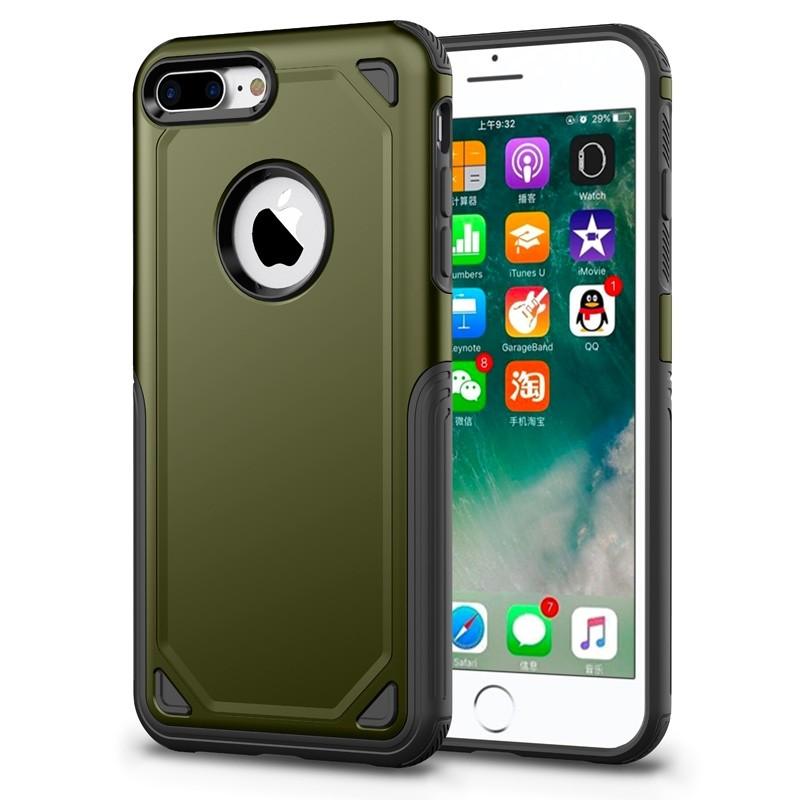 Mobiq Extra Stevig Hoesje iPhone 8 Plus/7 Plus Groen - 1