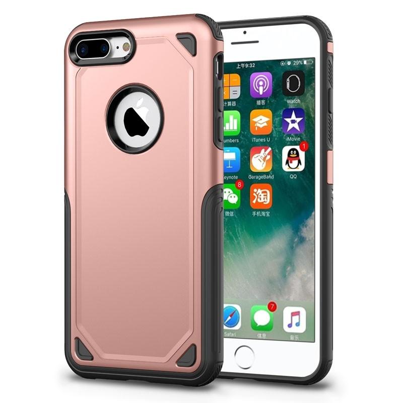 Mobiq Extra Beschermend Hoesje iPhone 8 Plus/7 Plus Roze - 1