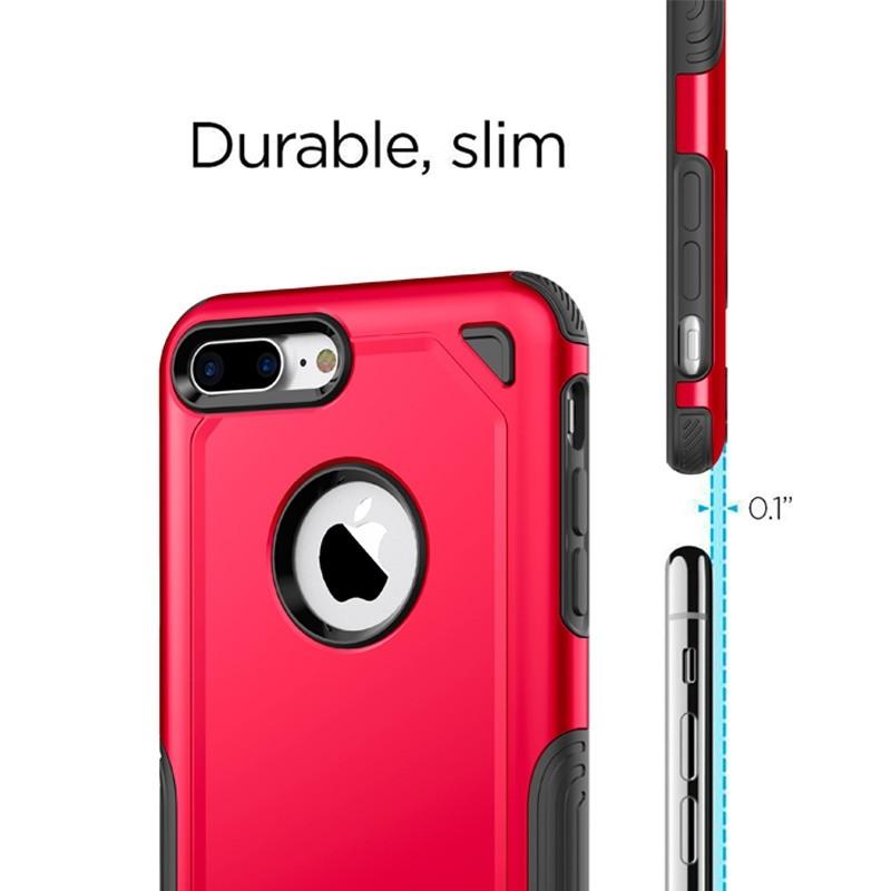 Mobiq Extra Stevig Hoesje iPhone 8 Plus/7 Plus Grijs - 3