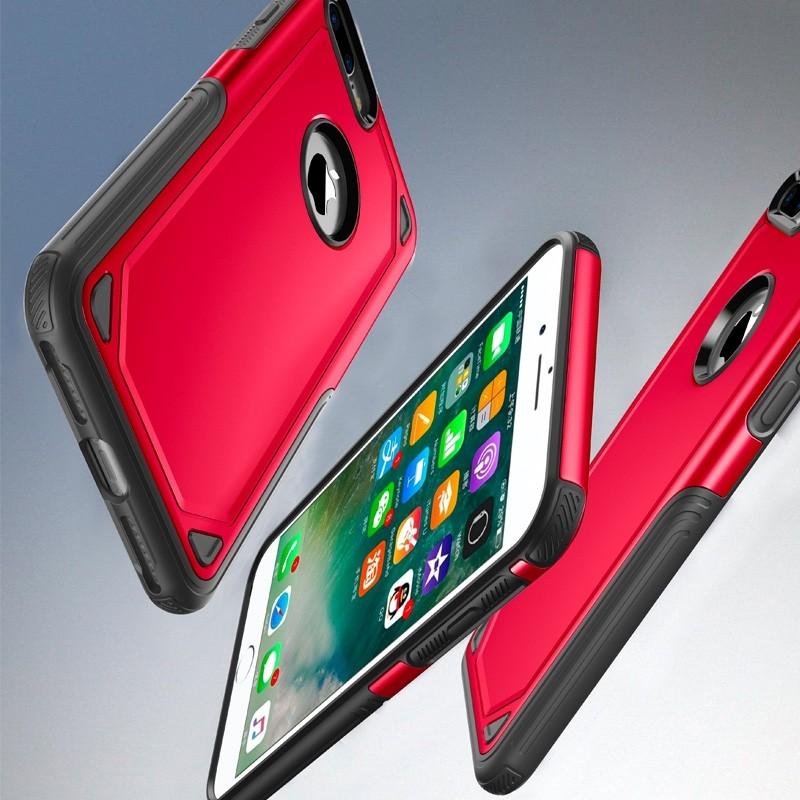 Mobiq Extra Stevig Hoesje iPhone 8 Plus/7 Plus Rood - 5