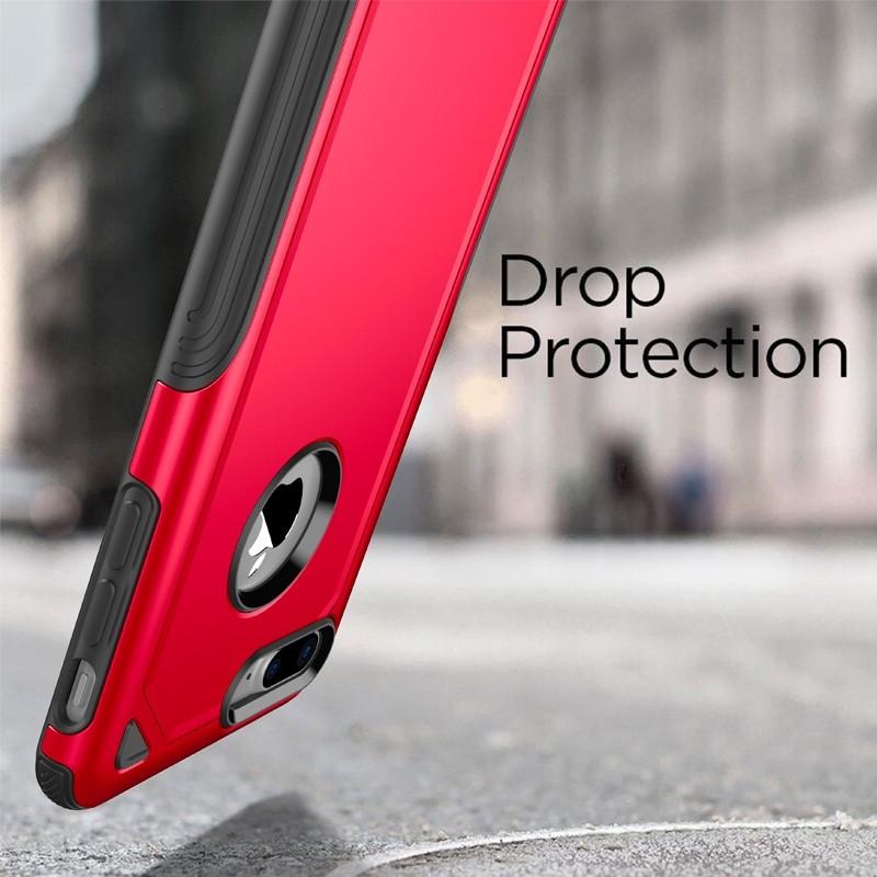 Mobiq Extra Stevig Hoesje iPhone 8 Plus/7 Plus Rood - 4