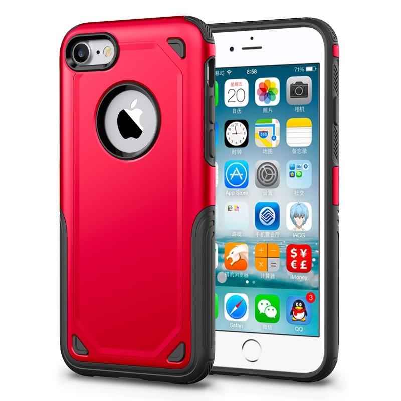 Mobiq Extra Stevig Hoesje iPhone 8/7 Rood - 1
