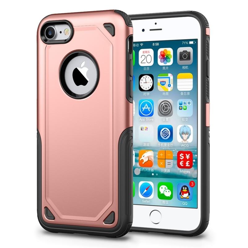 Mobiq Extra Stevig Hoesje iPhone SE (2020)/8/7 Roze - 1