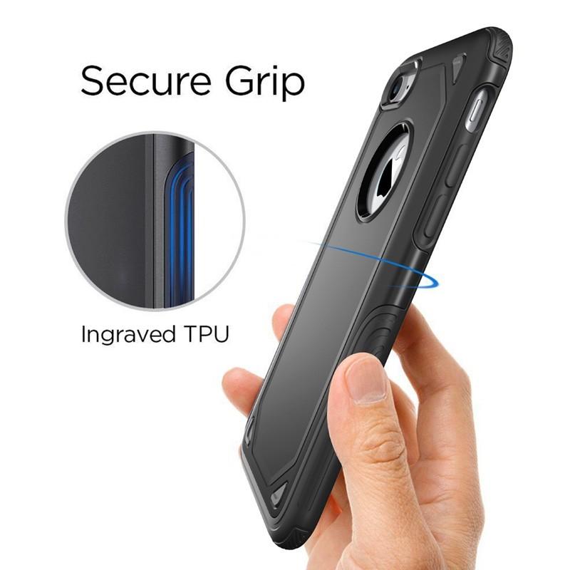 Mobiq Extra Stevig Hoesje iPhone 8/7 Zilver - 5