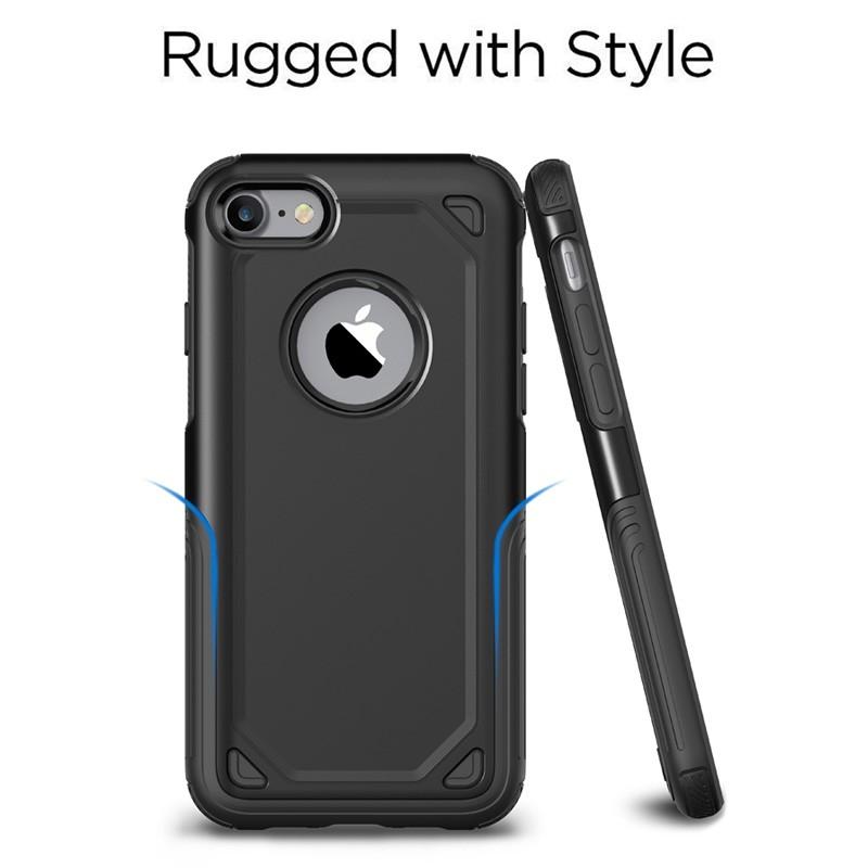 Mobiq Extra Stevig Hoesje iPhone SE (2020)/8/7 Zilver - 2